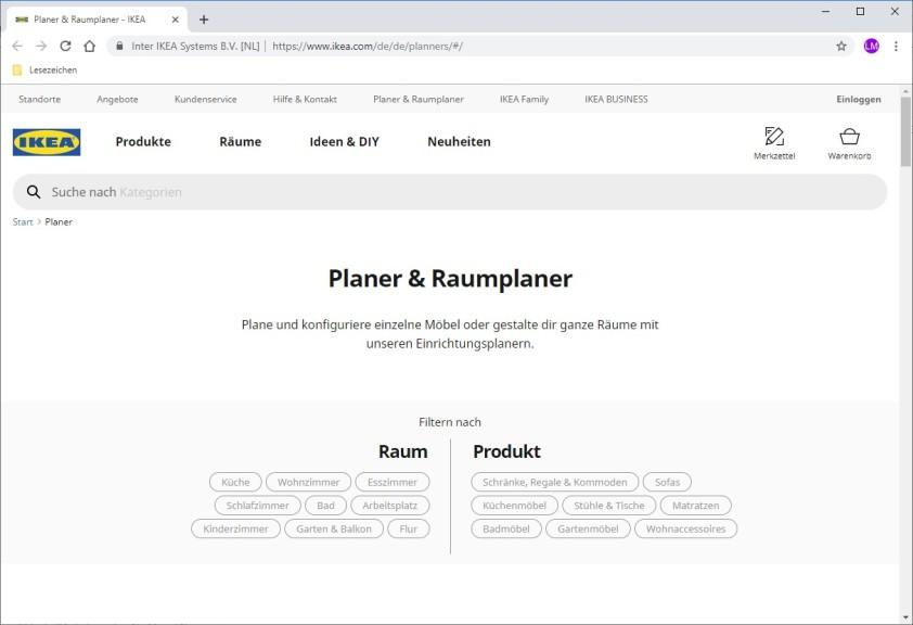 Screenshot 1 - IKEA Planer & Raumplaner