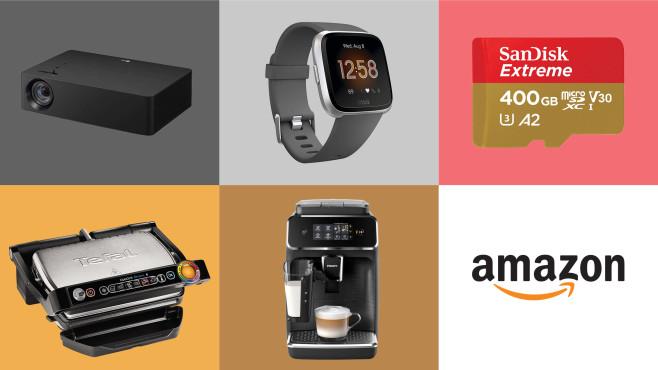 Montage aus mehreren Produkten und dem Amazon-Logo©Amazon