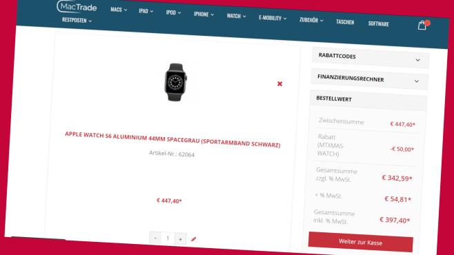 MacTrade: Apple Watch 50 Euro günstiger erhalten©Screenshot www.mactrade.de