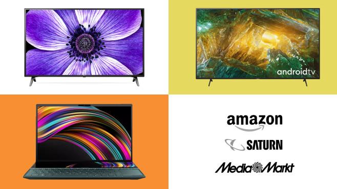 Amazon, Media Markt, Saturn: Die Top-Deals des Tages!©Amazon, Media Markt, Saturn, LG, Sony, Asus