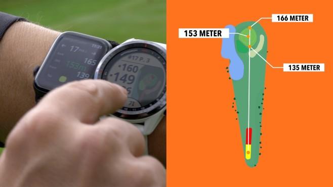 Entfernungsangabe Golfuhren©COMPUTER BILD