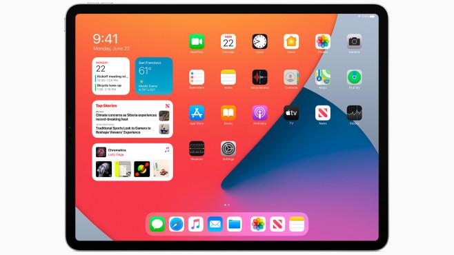 iPad Pro auf dem iPadOS 14 läuft©Apple