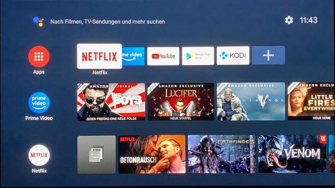 Das Home-Menü vom Mi TV Stick ist typisch für Android TV in der Version 9 und aufgeräumter als das Fire-TV-Menü, gut so!©COMPUTER BILD