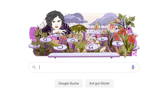 Mascha Kaléko mit eigenem Google Doodle©Google