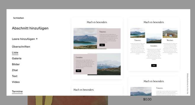 Squarespace: Der Website-Baukasten im Praxistest Bedienung Editor©Squarespace