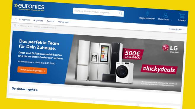 Euronics: Cashback-Aktion für LG-Artikel©PR/Screenshot www.orsay.com