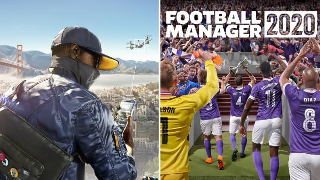 Watch Dogs 2 und Football Manager 2020©Ubisoft / Sega