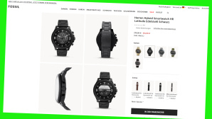 Fr�hlings-Sale bei Fosssil © Screenshot Hersteller-Onlineshop