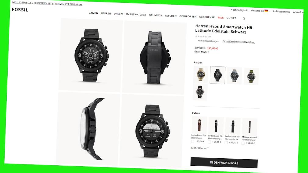 Frühlings-Sale bei Fosssil: Hybrid-Smartwtach HR jetzt online günstiger.