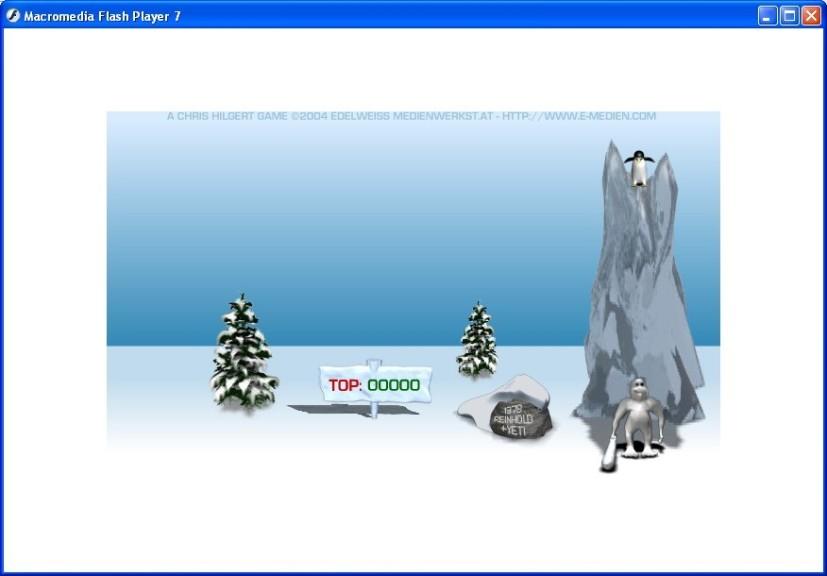 Screenshot 1 - Yetisports Part 1 – Pingu Throw