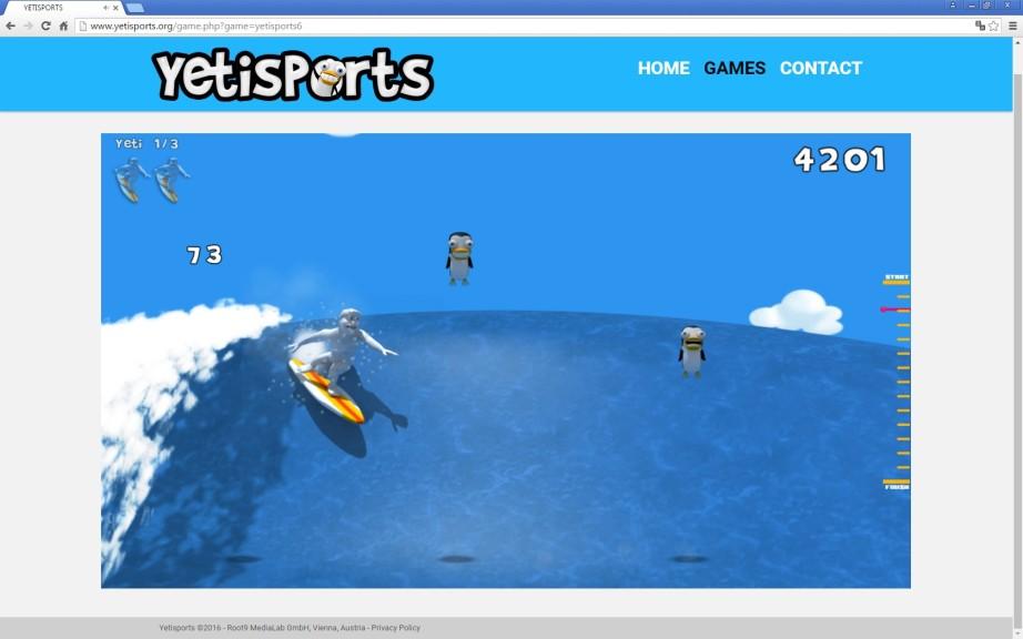 Screenshot 1 - Yetisports Part 6 – Bigwave