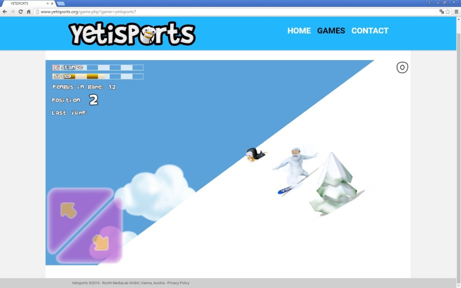 Screenshot 1 - Yetisports Part 7 – FreeRide