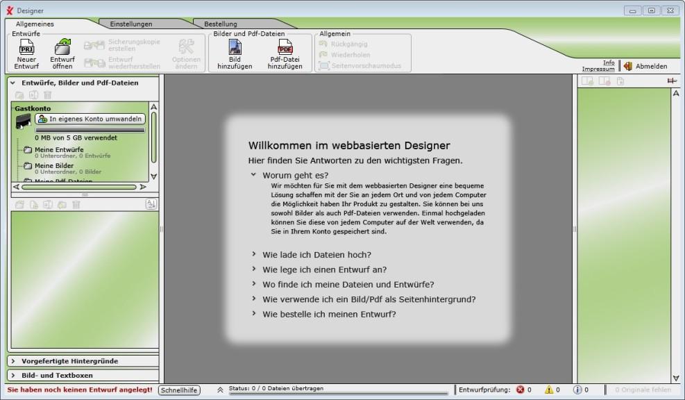Screenshot 1 - Drudix Buch Designer
