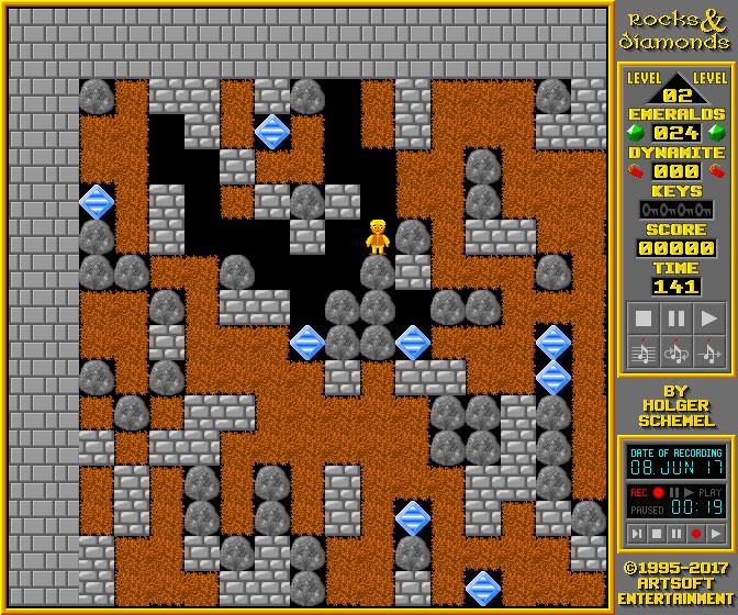 Screenshot 1 - Rocks'n'Diamonds