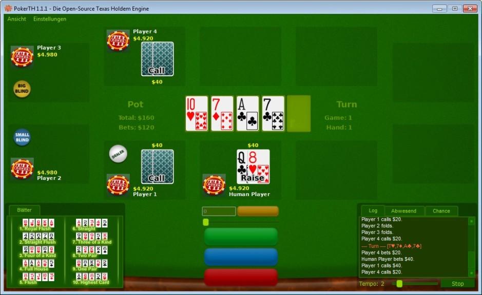 Screenshot 1 - PokerTH Portable