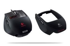 Logitech G9: Neue hochauflösende Maus für Profis und Spieler Logitech G9: Auswechselbare Griffe sorgen immer wieder für ein neues Spielgefühl.