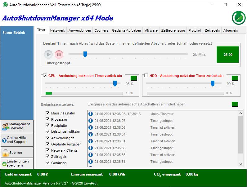 Screenshot 1 - AutoShutdownManager