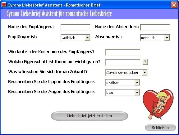 Screenshot 1 - Cyrano Liebesbrief Assistent