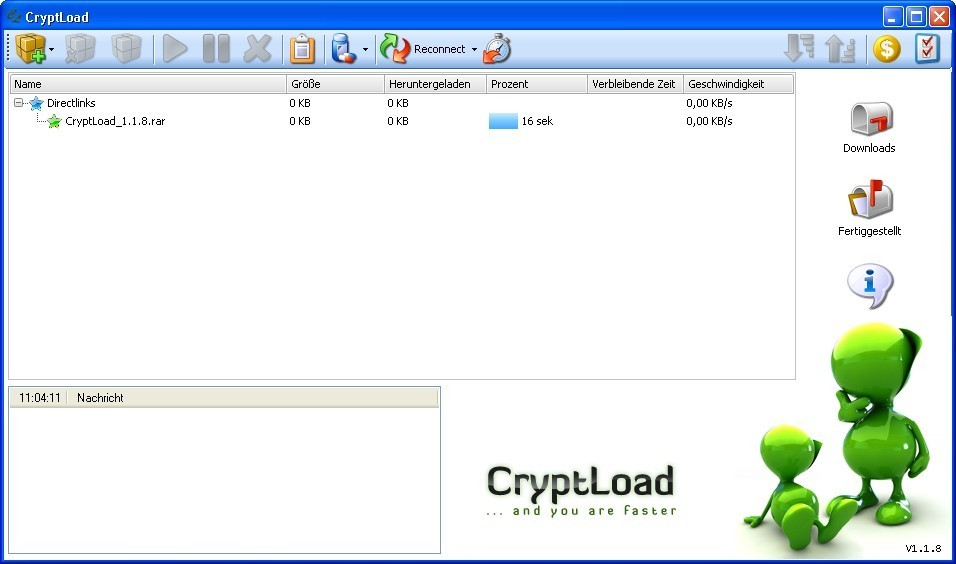 Screenshot 1 - CryptLoad