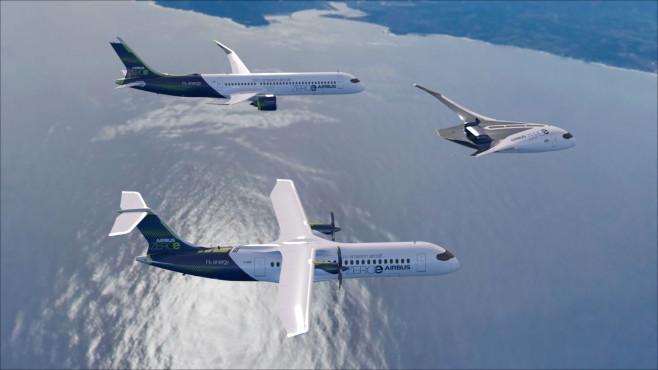 Wasserstoff-Konzeptflugzeuge von Airbus©Airbus