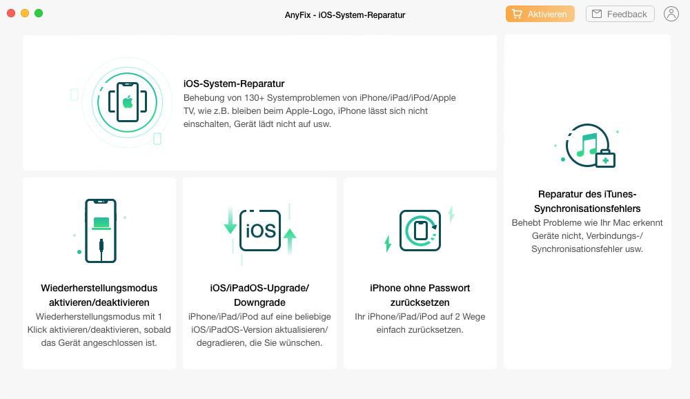 Screenshot 1 - AnyFix (Mac)