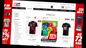 Bild Shop: Bundesliga-Fanartikel jetzt 15 Prozent günstiger©Screenshot shop.bild.de