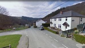 Haus und Straße in Aberhosan in Wales©Google Maps