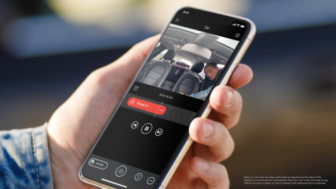 Ring Car Cam auf einem Smartphone©Ring, Amazon