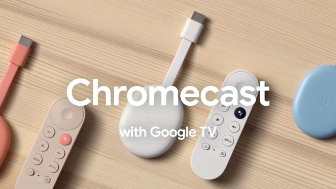Zum neuen Chromecast mit Google TV gehört eine handliche Fernbedienung.©Google