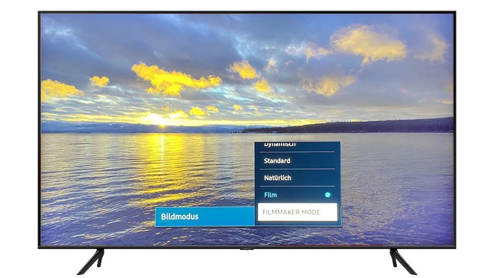Der Samsung Q60T zeigte im Film-Modus die beste Bildqualität im Test, der Filmmaker-Mode ist etwas dunkler.