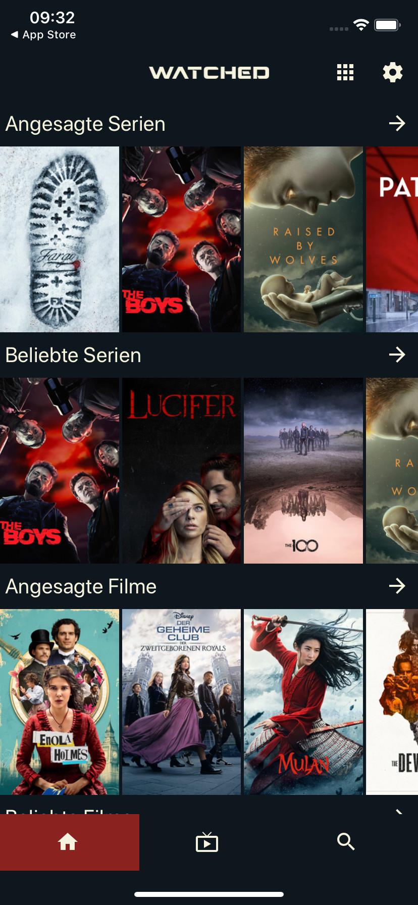 Screenshot 1 - Watched (App für iPhone & iPad)