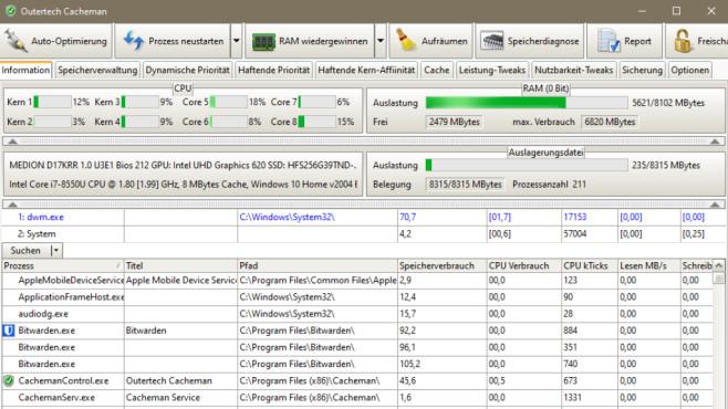 """Cacheman im Test: Das taugt der Arbeitsspeicher-Optimierer Software wie Cacheman braucht es nicht unbedingt, sie ist aber """"nice to have"""". Überzeugt das Tool?©COMPUTER BILD"""