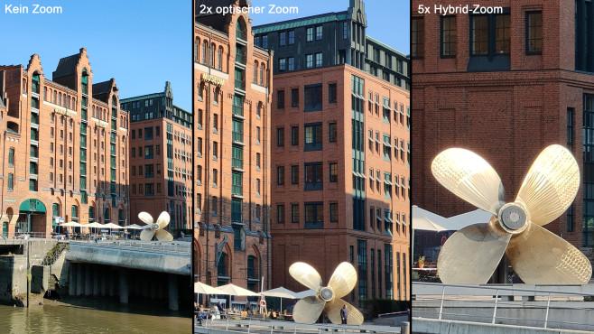 Zoomvergleich von Fotos mit dem Reno 4 Pro 5G©COMPUTER BILD