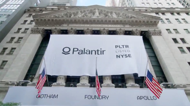 Börsengang von Palantir©New York Stock Exchange/Twitter