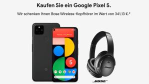 Google Pixel 5 und Bose QC 35 II©Google