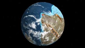 Weltkugel zur Zeit der Dinosaurier©dinosaurpictures.org
