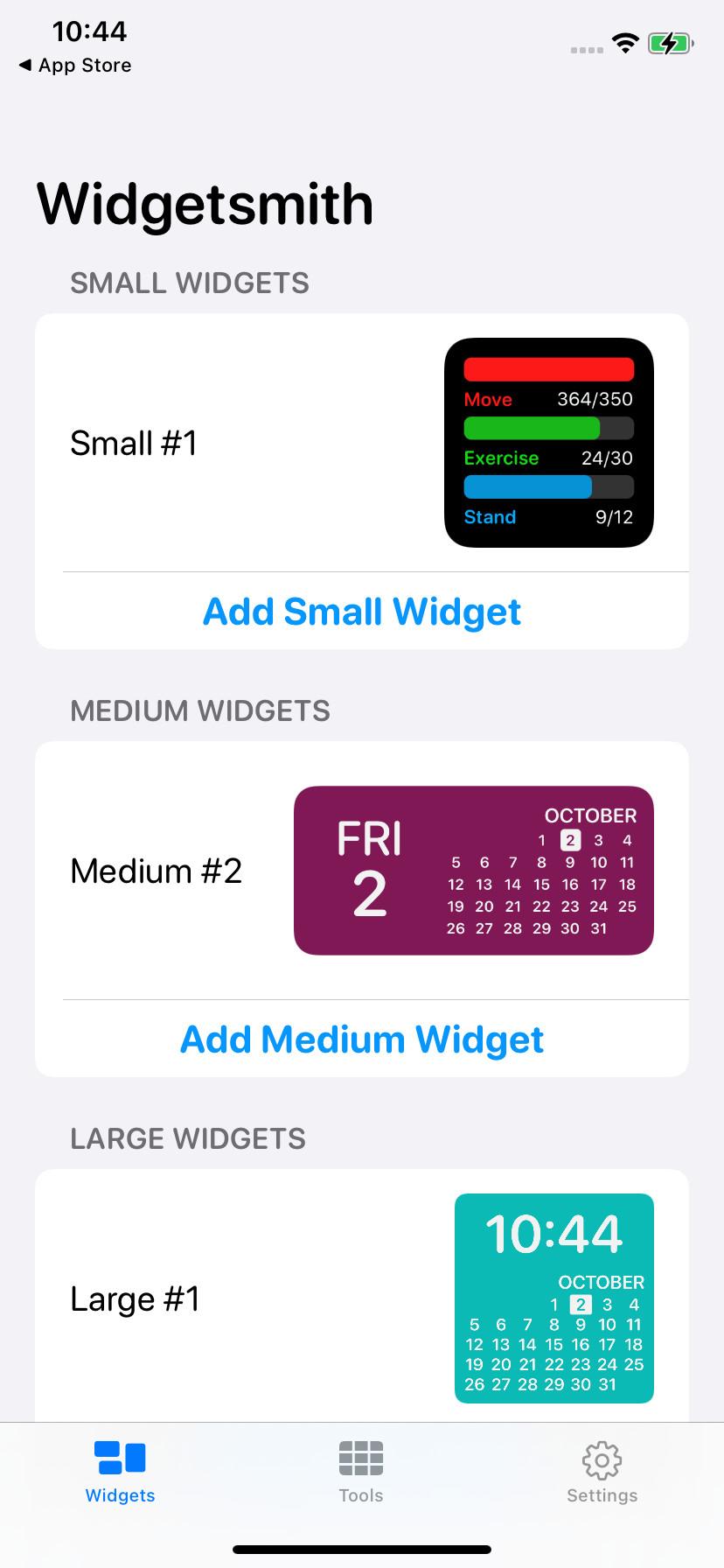 Screenshot 1 - Widgetsmith (App für iPhone & iPad)
