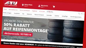 Winterreifen-Aktion bei  A.T.U.©PR/Screenshot www.atu.de/shop