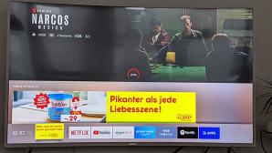 Netto-Werbung auf Samsung-Fernseher©Twitter, Job Plas