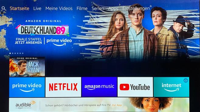 Der neue Amazon Fire TV Stick im Test: Das wär' doch nicht nötig gewesen! Zum Testzeitpunkt zeigte der neue Amazon Fire TV Stick das bekannte Amazon-Menü, zum Jahresende will das Amzon vereinfachen.©COMPUTER BILD