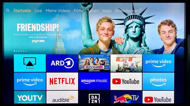 Amazon Fire TV Stick Lite: Der günstigste Fire-TV-Stick aller Zeiten im Test Die Benutzeroberfläche vom neuen Fire TV Stick Lite war zum Testzeitpunkt noch unverändert, zum Jahresende will sie Amazon durch eine aufgeräumtere Version ersetzen.©COMPUTER BILD