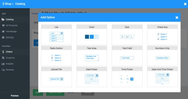 Site123: Der Website-Baukasten im Praxistest Auch für den Aufbau eines Online-Shops bietet Site123 diverse Funktionen.©Site123