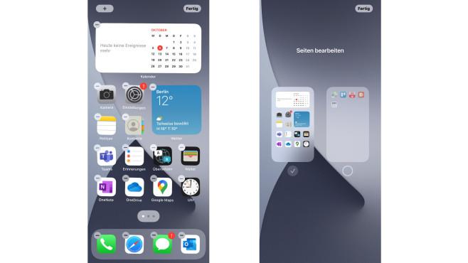 Seiten ausblenden in iOS 14©COMPUTER BILD