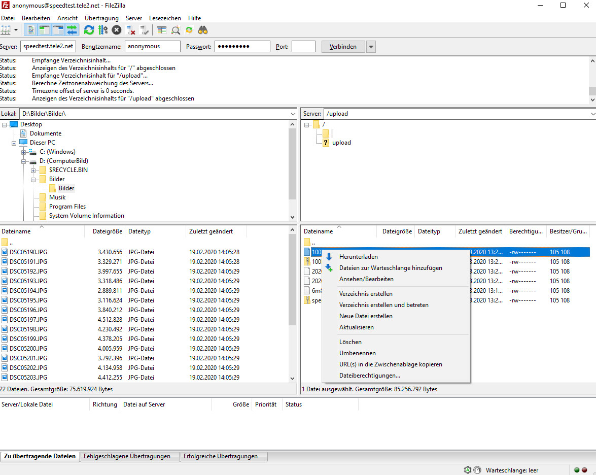 Screenshot 1 - FileZilla Portable