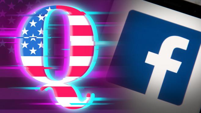 Eskalation zwischen Facebook und QAnon©iStock.com/Rich Townsend, SOPA Images / Getty Images