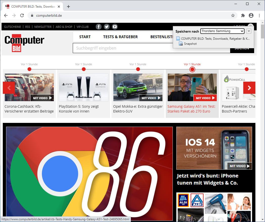 Screenshot 1 - Zotero Connector für Chrome