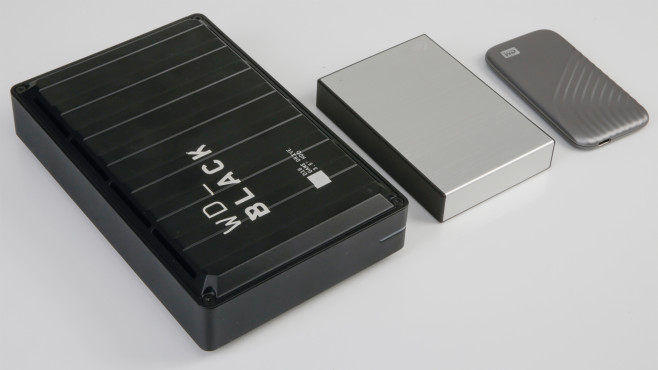 WD Black D10, Seagate Backup Plus Portable, externe SSD©COMPUTER BILD