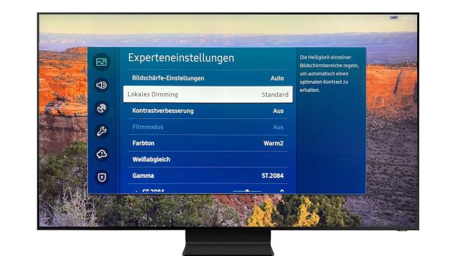 Die beste Bildqualität zeigt der Samsung Q800T im Film-Modus©Samsung, COMPUTER BILD
