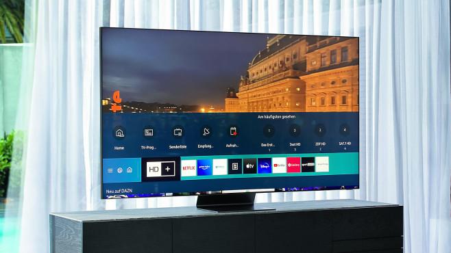 """In einer Menüleiste (""""Smart Hub"""") zeigt der Samsung die installierten Apps.©Samsung, COMPUTER BILD"""