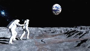 Astronauten auf dem Mond©Copyright: iStock.com/Sergydv